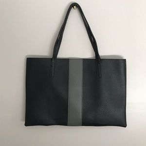 Vince Camuto black and gray leather bag